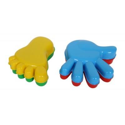 Sandformen Hände-Füße -  Sandförmchen-Set 4-tlg
