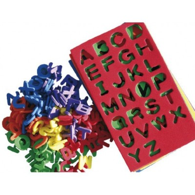 Moosgummi Buchstaben
