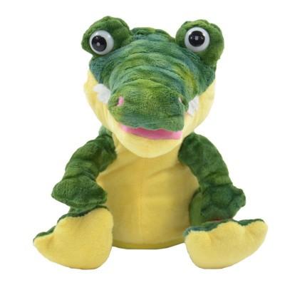 adaptiertes Spielzeug zur Tasternutzung. Krokodil Enrico