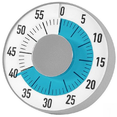 Zeitzeiger mit  farbiger Scheibe, die den Zeitablauf verdeutlicht mit Klingelsignal am Ende.