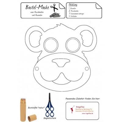 """Bastel - Maske """" Affe"""" kostenloser Download"""