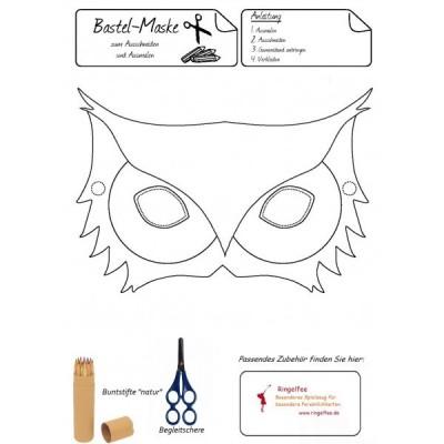 "Bastel - Maske "" Eule "" kostenloser Download"