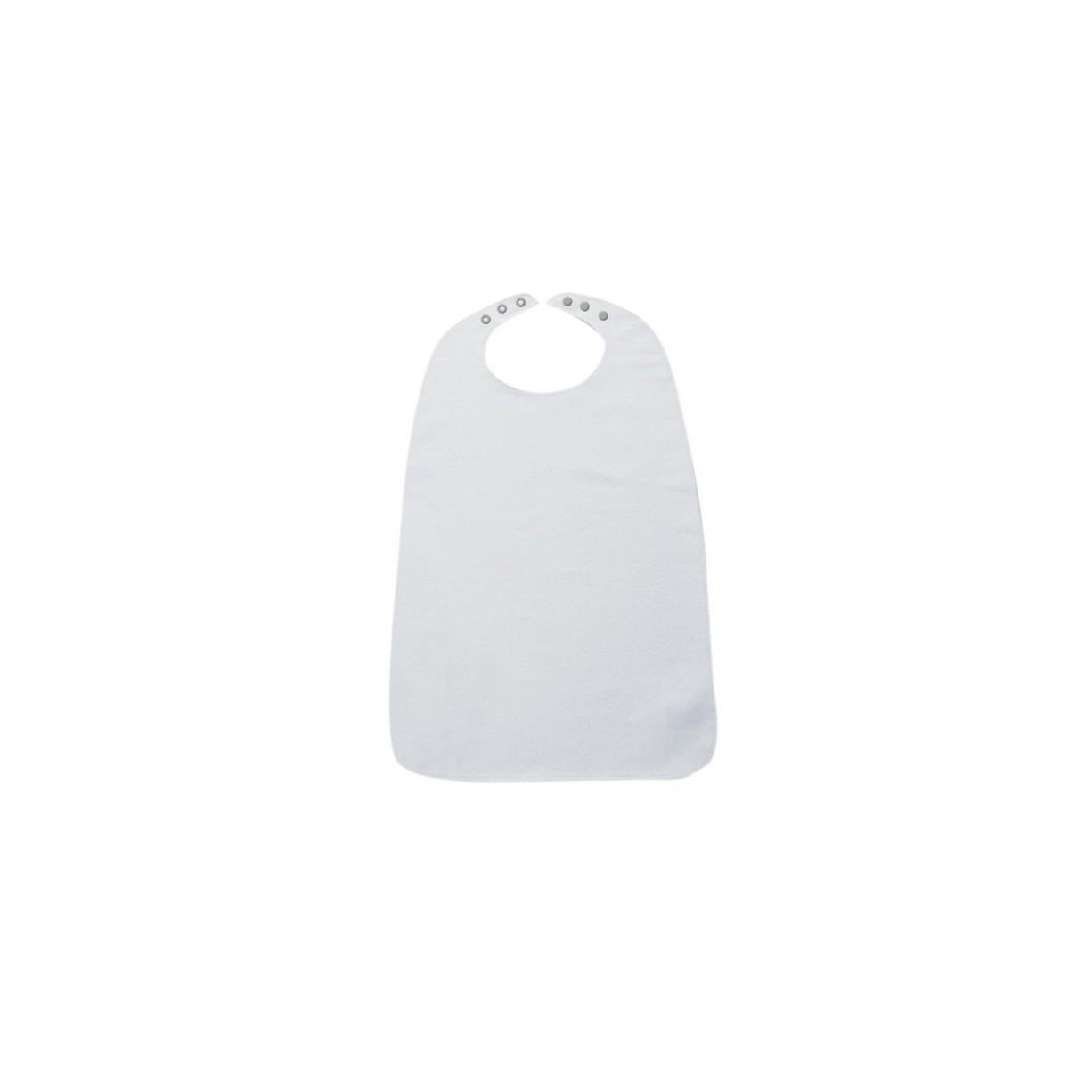 Ess-Schürze aus Frottee mit Druckknopfverschluss - Ess-Latz Weiß